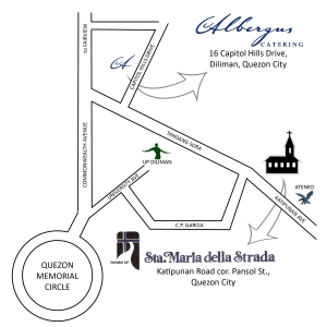 Map to Church and Reception